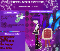 Bits and Bytes App - Naomi And Onimon (Duncan) by Choco-Hana