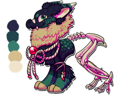 1/4 Adoptable Zombie Fluffgon [CLOSED] by LunumbraNecro