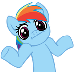 Rainbow Dash shrug by dropletx1
