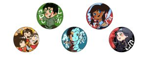 KORRA buttons by shark-bomb