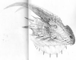 sketch - dragonhead by DefiledVisions