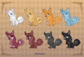 [Closed] Adoptables: Unicorn Puppies by MySweetQueen