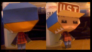 Blue Papercraft Finished by Caramelcat123