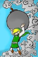Link Throw The Bomb by Mustard-Elbow