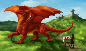 The Making of the Welsh Flag by lapis-lazuri
