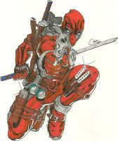 Deadpool Color Version by DamCee