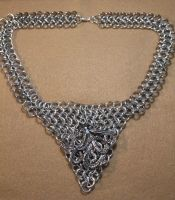 Chainmaille Octopus Necklace by medievalfaery