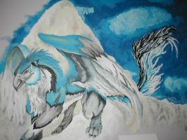 Gryphon-on-my-wall by forensicfox