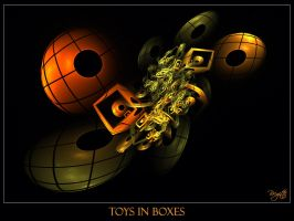 Toys In Boxes by Brigitte-Fredensborg