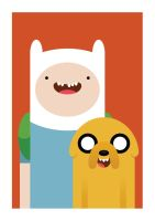 finn and jake by hiugo