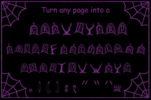 Graveyard font by ChadRocco