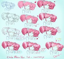 Step By Step - Chibi Moon Hair Tut by Saviroosje