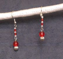 Candy Cane Drop Earrings by LadyTal