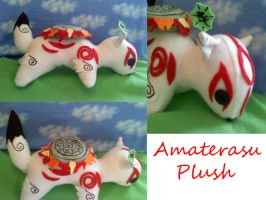 Amaterasu plush commission by CaptHansIsMyMaster