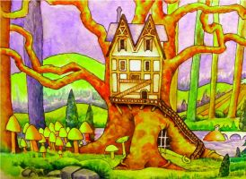 Enchanted Tree-House by deviantmike423