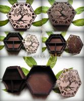 Pranaya Design: Tree Hexagon Box by pranayadesign