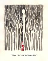 Red Riding Hood Meets Slender Man by artemiscrow