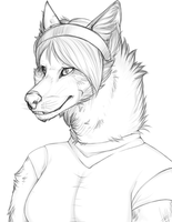Maddie the Werewolf -1 WIP- by Flamelish