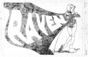 Raven pencil drawing by RyanJampole
