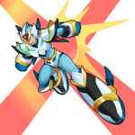 Knight armor-megaman x fangame by rapharanker
