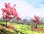 Spring Trees by doma22