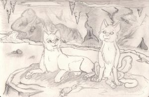 Hollyleaf and Fallen leaves by HAYALES