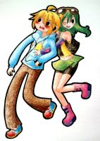 Len and Gumi AT style by Matsy23