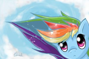 Rainbow Dash - 20% by Bernouli