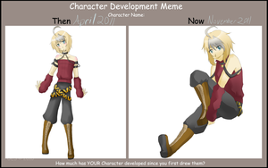 Character Development Meme - Pesha by CatDemonAmi