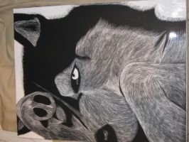 Dog etching by SnowSilent2010