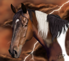 Painted Lightening - WIP by ExquisiteGraceDesign