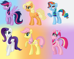 Mane 6 Colour Swap by Zoiby