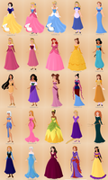 Official, Future, and OC Disney Heroines by supereilonwypevensie