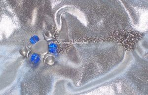 Zora Sapphire Silver Necklace Pendant Zelda OOAK by TorresDesigns