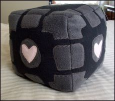Companion Cube Plush by quacked
