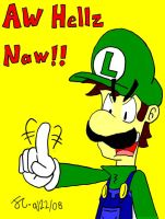 Luigi Dissaproves...again by HeroInTraining