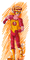 Experimental Kid Flash by AmethystSadachbia