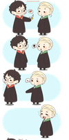 Chibi Drarry - Love you too by Cremebunny