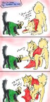.:Thor-Loki: Let's tease the cat:. by Mayasacha
