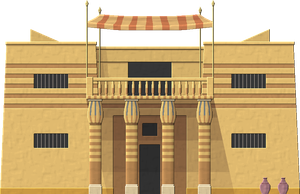 Egyptian Farmhouse by Herbertrocha
