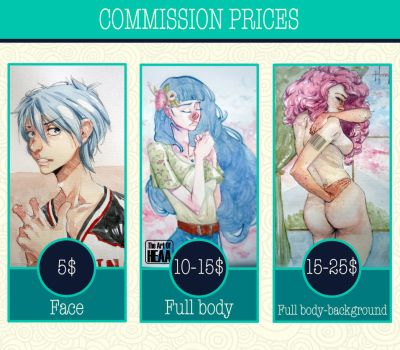 Commissions prices by The-Art-Of-HEAA