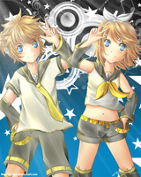 Super Star: Len and Rin by Jqnn