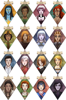 Meyers-Briggs Personality Types - OC style! by Ilweran