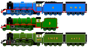 New and Improved Gordon, Henry and Scotsman by JamesFan1991