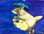 Totoro's Flight by Karlina101