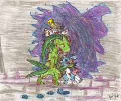 Grovyle's Sacrifice by Plaid-pichu