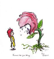 Kurama's rose gone Wrong by Limebro