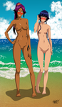 Shihouin Yoruichi and Sui-Feng by OrangeRevolution