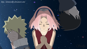 NaruSasuSaku - Cascade - Lineart Colored by DennisStelly