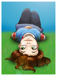 June :: Laying on the grass by FEuJenny07